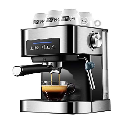 Espressomaschine/Kaffeemaschine/Milchaufschäumer/Cappuccinomaschine/Siebträger Espressomaschine/Edelstahl Design/1,6L Wassertank/850 Watt/20 Bar