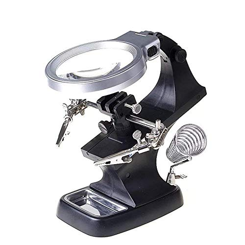 PYROJEWEL Mantenimiento del teléfono Celular de la Lupa Herramienta 8X Escritorio multifunción de Cristal del Reloj electrónico de Soldadura Amplificador para Lectura, Soldadura, inspección, Monedas,