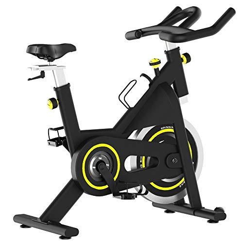 Heimtrainer Haushalt Stille Fahrrad Indoorsport und Fitness Equipment Fitness Fest Fahrrad Vertikal Exercise Fahrrad for Reithalle Heimtrainer Aerobic-Training ( Color : Black , Size : 122x99x53cm )