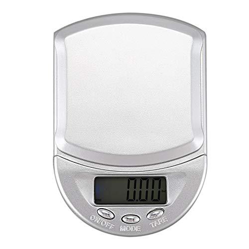 LONGWDS Escala 500 g / 0.1g Digital Bolsillo Escala de Cocina Escala de Cocina Escalas para el hogar Escalas precisas Escala de Letras Herramienta de Medida (Color : Silver)