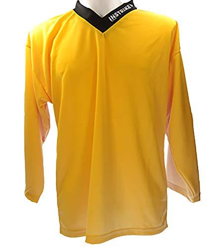 Instrike Trainings-Trikot Eishockey Spieler XL gelb Hochwertiges Tranings Jersey Senior für Eishockey und Inline