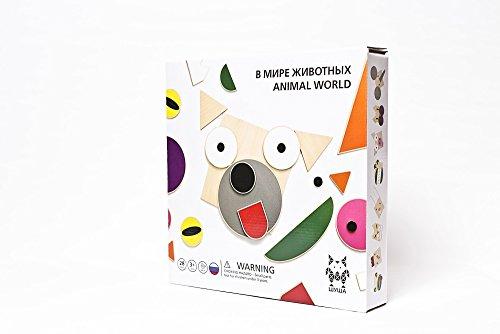 Monde Animal Bois de Bouleau conception de jouets Créativité selbstständigkeit pour enfants à partir de 3 ans