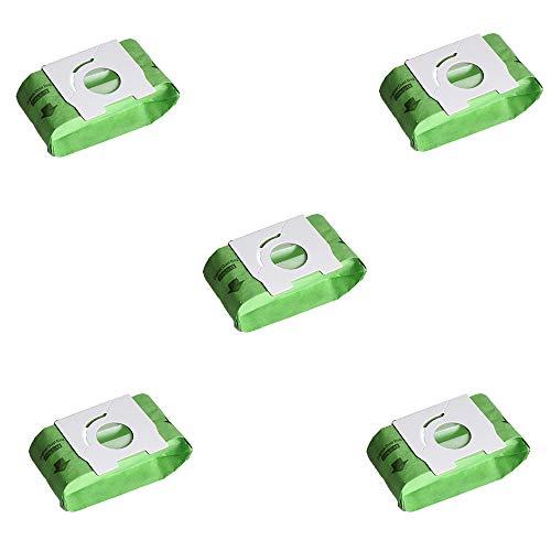 KingBra - Bolsas de papel para aspiradora (5 unidades, 2 capas de papel de alta filtración, bolsas de papel para polvo y polvo de repuesto para Panasonic MC-CA291 MC-CA293 MC-CA391 MC-CA301 MC-CA393)