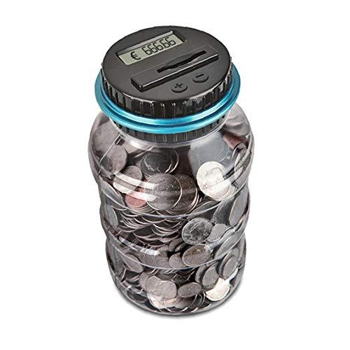 Contar 1pc Banco Contador Electrónico Automático Hucha Banco De Moneda Digital Ahorro Tarro Dinero De La Moneda Electrónica Caja De Ahorro Contador Diseño Clásico Hucha Automática (EUR)
