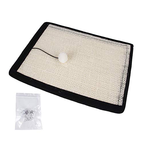 Yinuneronsty Sisal Cats Claw Grinder Cat Scratch Plate Sofa Furniture Protective Cushion