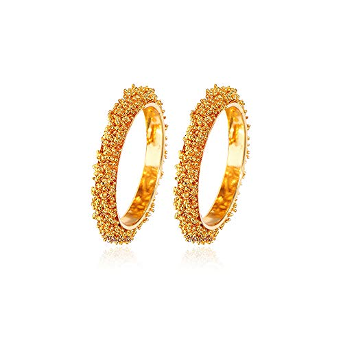 YouBella Ethnic Bollywood Gold Plated Traditional Indian Bracelet Bangle Jewellery for Women and Girls (6)
