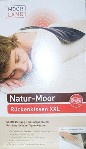 Moorkissen Moor-Rückenkissen XXL 34 x 30 cm von BeinioTherm mit einer weichen Velour-Seite