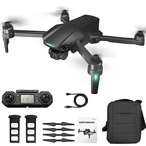 Drone RC 6 K, fotocamera a 3 assi Gimbal, tempo di volo 25 minuti M10 per principianti, 5 G WiFi GPS FPV, drone senza spazzole con custodia portatile e acuo