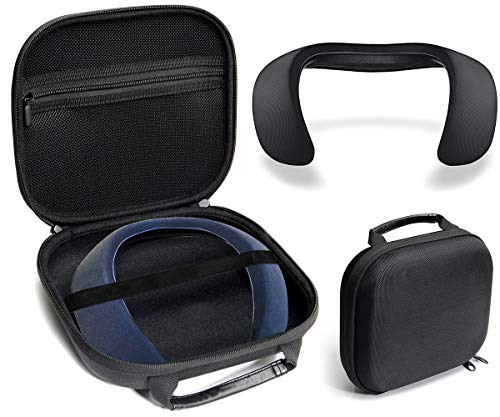 Protective Case for Bose Soundwear Companion Wireless Wearable Speaker by WGear, Featured Designed with Excellent Protection, Removable Mesh Pocket for Cable and Other accessorie (Ballastic Black)
