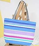 Molmfy Bolsa de la compra de lona, a rayas, con estampado de arcoíris y estampado de arcoíris para mujer y niña, bolso de hombro de compras, estilo 10