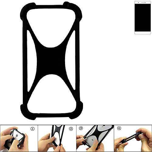 K-S-Trade Handyhülle für Phicomm Passion 2S Schutz Hülle Silikon Bumper Cover Case Silikoncase TPU Softcase Schutzhülle Smartphone Stoßschutz, schwarz (1x)