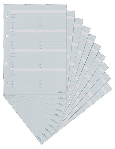 Durable 245610 Telefoneinlage (Erweiterungssatz für TelIndex A5) 10 Einlagen grau