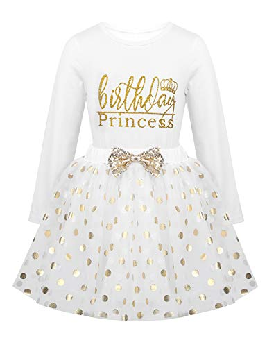 YiZYiF Vestido Tutú Princesa Niñas Vestido Fiesta Boda Camiseta Manga Larga Falda...