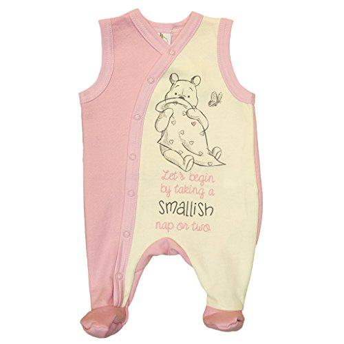 Winnie The Pooh Baby Strampler für Neugeborene in Größe 44 50 56 62 68 74 80 Baumwolle Mädchen warm dick Disney mit Fuß ohne Ärmellos Langarm Farbe Modell 4, Größe 56