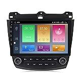 ADMLZQQ Android 10 Car GPS Navigation Vehículo Radio Estéreo con Enlace De Espejo WiFi SWC para Honda Accord 7 2003-2007 Bluetooth Manos Libres FM DSP+ Cámara Trasera,M500 4+64g