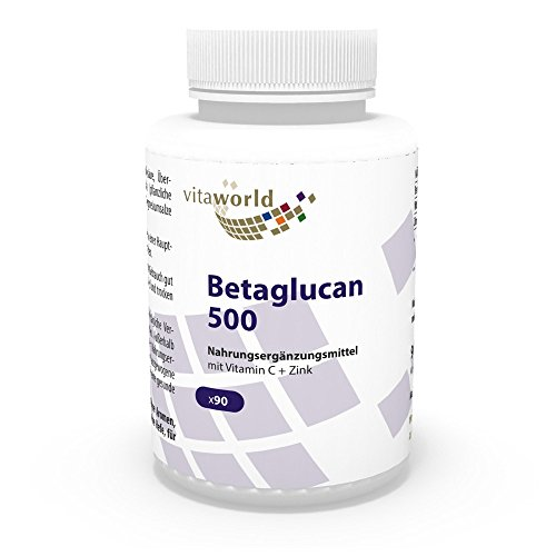 Beta-glucano 500mg 90 Cápsulas Vita World Farmacia Alemania Sistema Inmune