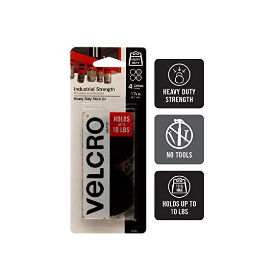 VELCRO Brand Industrial Fasteners Stick-On Adhesive | Professional Grade Heavy Duty Strength | Indoor Outdoor Use, 1 7… 2 Professional grade adhesive. Unmatched versatility. Ultimate tool for organization, mounting, hanging, storing and much more. Our tape will adhere to almost all surfaces! It is even water resistant. Use it indoor and outdoor. This Industrial Strength Sticky Back tape is designed for tough applications. Stronger adhesive, longer lasting and more durable than other brands