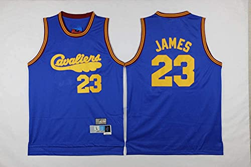 Ropa Jersey Men's, NBA Cleveland Cavaliers # 23 LeBron James - Ropa deportiva de Baloncesto Classic Comodidad suelta Comfort Chalecos Tops, Camisetas sin mangas Uniformes, Azul, XXL (185 ~ 195cm)