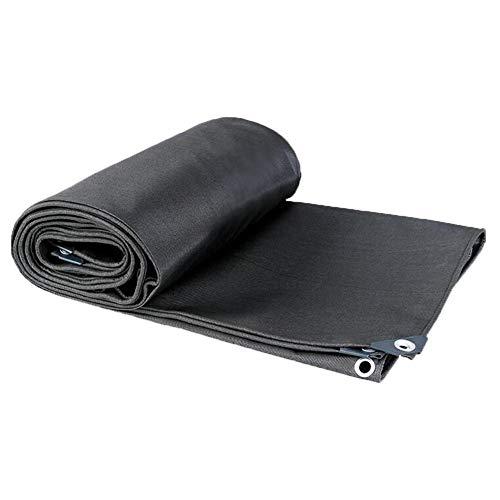 DALL Lonas De Lona,Lona Impermeable Resistente,con Ojales Y Bordes Reforzados,Paño Impermeable Protector Solar,600 G/M²,Espesor 0,64 Mm(Color:Negro,Size:6 × 6 m)