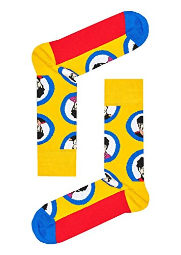 Happy Socks Unisex The Beatles Limited Edition Submarine Porthole Socks (One Pair)