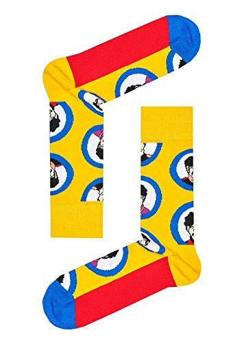 Happy Socks Unisex The Beatles Limited Edition Submarine Porthole Socks (One Pair)