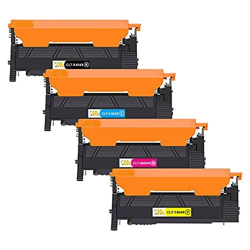 CMCMCM Compatible CLT-P404C CLT-404S Toner para CLT-K404S CLT-C404S CLT-Y404S CLT-M404S, para Samsung Xpress SL C430 C430W C480 C480W C480FN (Negro Cian Magenta Amarillo, Paquete de 4)