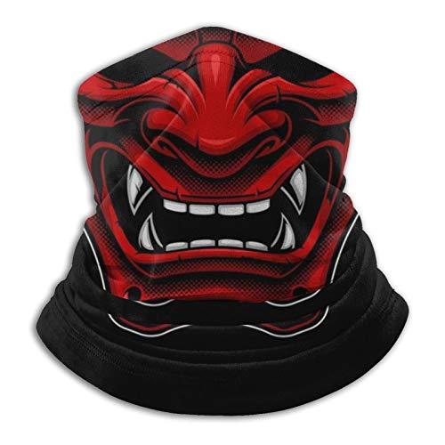 SPINGEND Samurai Unisex Neck Gaiter Face Dust-Proof Shield Scarf Face Mask Bandana Balaclava