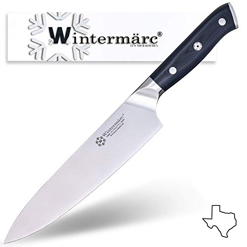 Wintermärc 8-inch Chef knife (200mm) - Köchin Series - Krupp High Carbon German Stainless Steel Sharp Edge Blade - Best Choice for Home and Professional Chefs