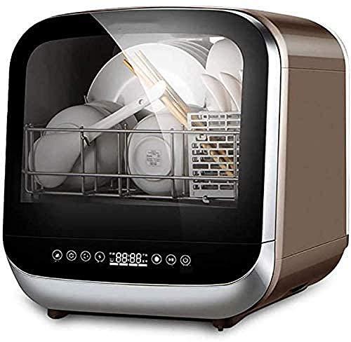 Encimera compacta para lavavajillas con depósito de agua desmontable con interior de acero inoxidable y 6 ajustes de lugares, para apartamento, oficina, hogar, cocina