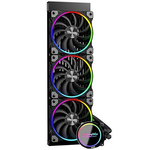 Alpenföhn - Gletscherwasser AiO 360 High Speed RGB 3xLüfter 120mm PWM Wasserkühlung PC hat ein Maximum von 2200rpm CPU Wasserkühlung mit hoher Leistung PC-Kühlung Water Cooling