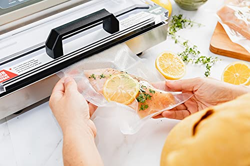 200 Quart Vacuum Sealer Storage Bags Size 8 x 12 Inch for Food Saver, Seal a Meal Vac Sealers BPA Free, Heavy Duty Commercial Grade Freezer & Sous Vide Vaccume Safe Universal Pre-Cut Bag Avid Armor