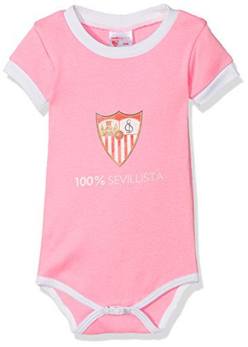 Sevilla CF 06BOD04-18 Bodsev Body, Bebé-Niños, Multicolor (Blanco/Rojo), 18