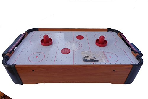 Rhode Island Novelty Air Hockey Table Top Game for Kids with 2 Puchers and...