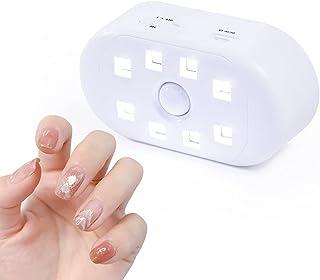 【2021新機種】GTMAIL UVライト ネイルドライヤー UV+LED二重光源 高速硬化 痛みなし タイマー設定可能 硬化ライト LEDネイルドライヤー usb給電 手足両用 軽量 持ち運び便利 ネイルライト Mini ホワイト