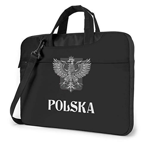 Poland Flag with Polish Eagle Cute Laptop Case Laptop Shoulder Messenger Bag Sleeve for 15.6 Inch