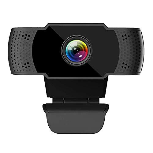 ieGeek Webcam 1080P FHD con Microfono, PC Portatile Desktop USB 2.0 Videocamera per Teleconferenza, Videochiamate, Studio, Conferenza, Registrazione,