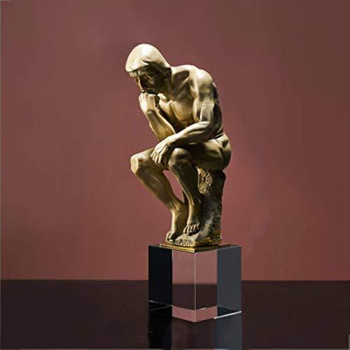 IUYJVR Escultura Estatua Adorno Personaje Moderno Pensador Estatua Resina Creativa Artesanía Escultura de Escritorio Adornos de Arte Gabinete de Vino Decoración del hogar Regalo de Negocios
