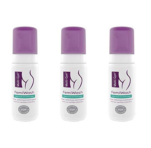 Multi-Gyn FemiWash für die tägliche Intimhygiene und Intimrasur - 100ml Behälter (3 Pack)