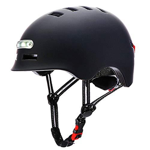 ZXHH Casco da Mountain Bike Ciclismo Casco Bici Casco Bicicletta con Luce di LED Certificato CE,Casco da Bici Super Leggero Casco integralmente Adulto da Bicicletta Skateboarding Sci & Snowboard