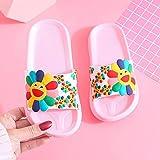 WENHUA Chanclas Sandalias Verano Antideslizante Zapatillas casa, Zapatos de Ducha, Zapatillas de casa de Fondo Suave para baño 2021 Nuevas, Pink White_40 / 41