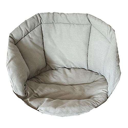 Cuscino per Sedia Amaca, Beige Cestino Appeso Cuscino per Sedia a Forma di Uovo Sedile Rotondo Cuscino per Schienale a Nido d'Ape per Patio Giardino Cuscino per Sedia a Dondolo Cuscino per Sedile