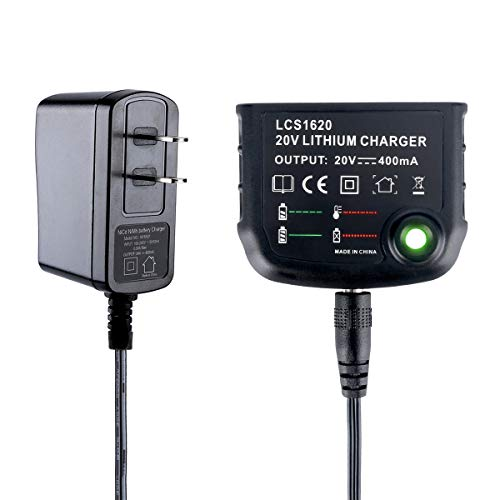 Lasica Replacement for Black and Decker 20V Lithium Battery Charger LCS1620B 90590282, Compatible with Black & Decker 16V and 20V Max Lithium Battery LBXR20 LBXR20-OPE LB2X4020 LBX4020