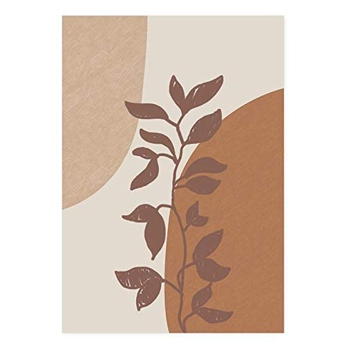 NMGSM Modern Terracotta Boho Sun Moon Plants Posters Geometric Canvas Painting Wall Art Pictures for Living Room Home Interior Decor (Color : PICTURE C, Size (Inch) : 30x40 cm no frame)