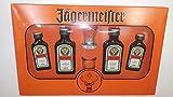Cofre 4 mini Jägermeister 2 de 40 ml 2 de 20ml más 2 chupitos 35% Alcohol