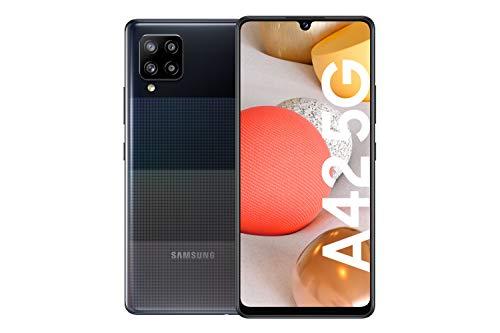 Samsung Galaxy A42 5G Android Smartphone ohne Vertrag, 4 Kameras, großer 5.000 mAh Akku, 6,6 Zoll Super AMOLED-Display, 128 GB/4 GB RAM, 5G Datenverbindung, Handy in Schwarz, deutsche Version