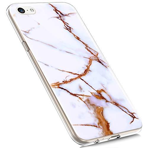 MoreChioce Funda iPhone 5C Mármol,Funda iPhone 5C Silicona,Slim Anti-Rasguños Carcasa Silicona Suave Marble TPU Caso Protección de Parachoques de Silicona Compatible con iPhone 5C,Mármol#01