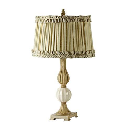 WEI-LUONG Lámparas de mesa, personalidad simple nórdicos pastorales de la tela de mesa luces del dormitorio lámpara de cabecera, dormitorio moderno de la sala de lectura de iluminación luz de la noche