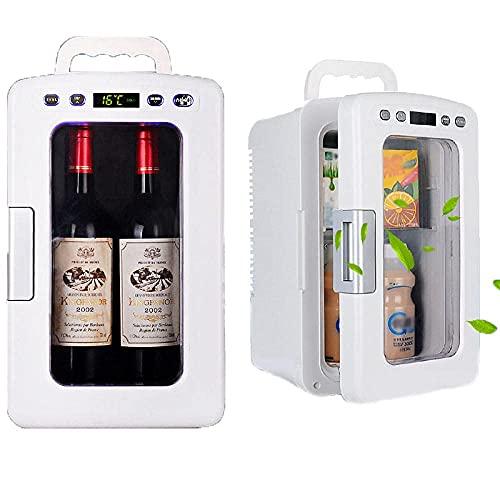 SFSGH Mini refrigerador portátil de 12 litros, refrigerador y Calentador Mini refrigerador, CA/CC, Sistema de visualización de Pantalla Pantalla táctil Inteligente, refrigerador Compacto
