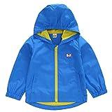 Echinodon Baby Windjacke Kinder Outdoorjacke Winddicht/Leicht/Atmungsaktiv Jungen Wanderjacke Jacke mit Kapuze übergangsjacke (90, C(Netzfutter))
