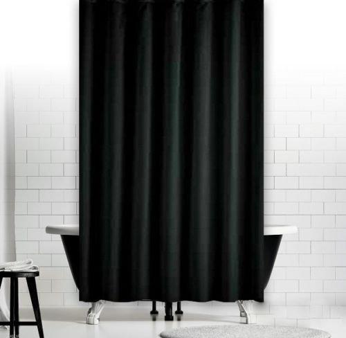 KS Handel 24 Top Designs Textil Duschvorhang 120x200 cm/Schwarz Uni